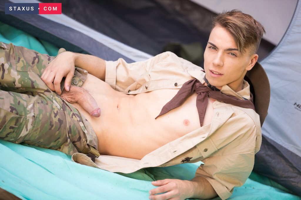 Young Uniforms Uncut Twinks Twinks Tattoos Rimming Raw Outdoor Sex Lucas Drake Jake Stark Gay Twinks Gay Flip Flop Facial Cumshot Boys Blonds Bareback Anal Fingering 69  Staxus: Slutty Scouts Suck Cock & Flip Flop For A Sticky Facial Blast! (Lucas Drake, Jake Stark)