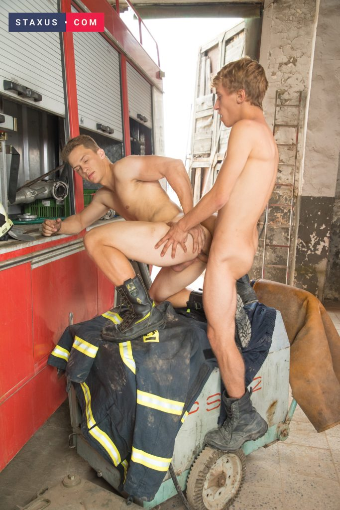 Underwear Uncut Twinks Ron Negba Rimming Muscular Jockstrap Jock on Twink Gay Fingering Colin Horner Boys Boots  Staxus: Sleeping Firefighter Gets A Wake Up Call To Give A Booted Fuck! (Ron Negba, Colin Horner)