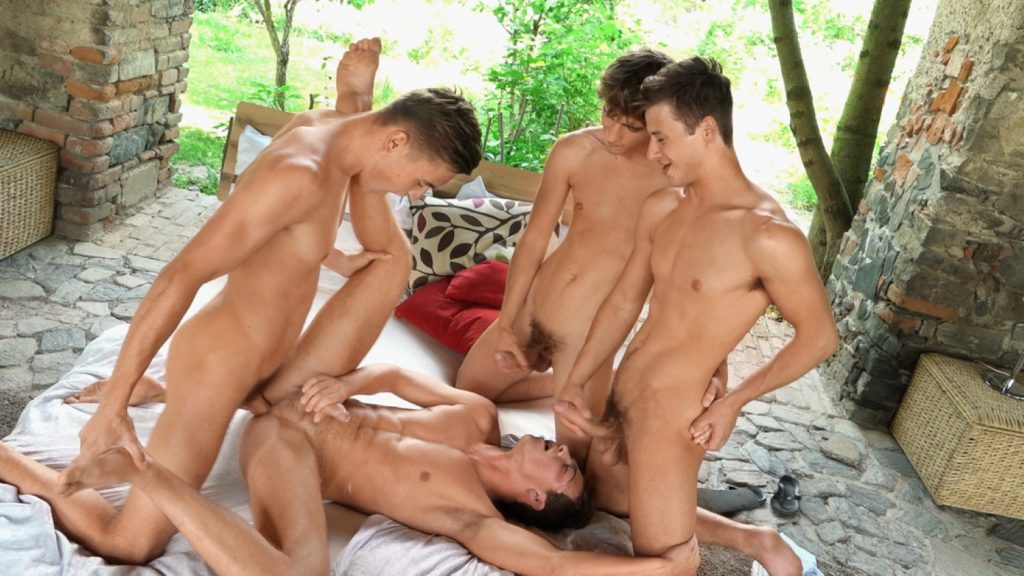 Uncut Cock Twinks Rimming Pip Caulfield Muscular Kissing Kieran Benning Jocks Jock on Twink Jock on Jock Jock Jason Bacall Hunks – Studs Gay Cumshot Condom Free Blowjob Big Dick Bastian Dufy Bareback Anal Sex  Freshmen: Pip with Bastian, Kieran & Jason