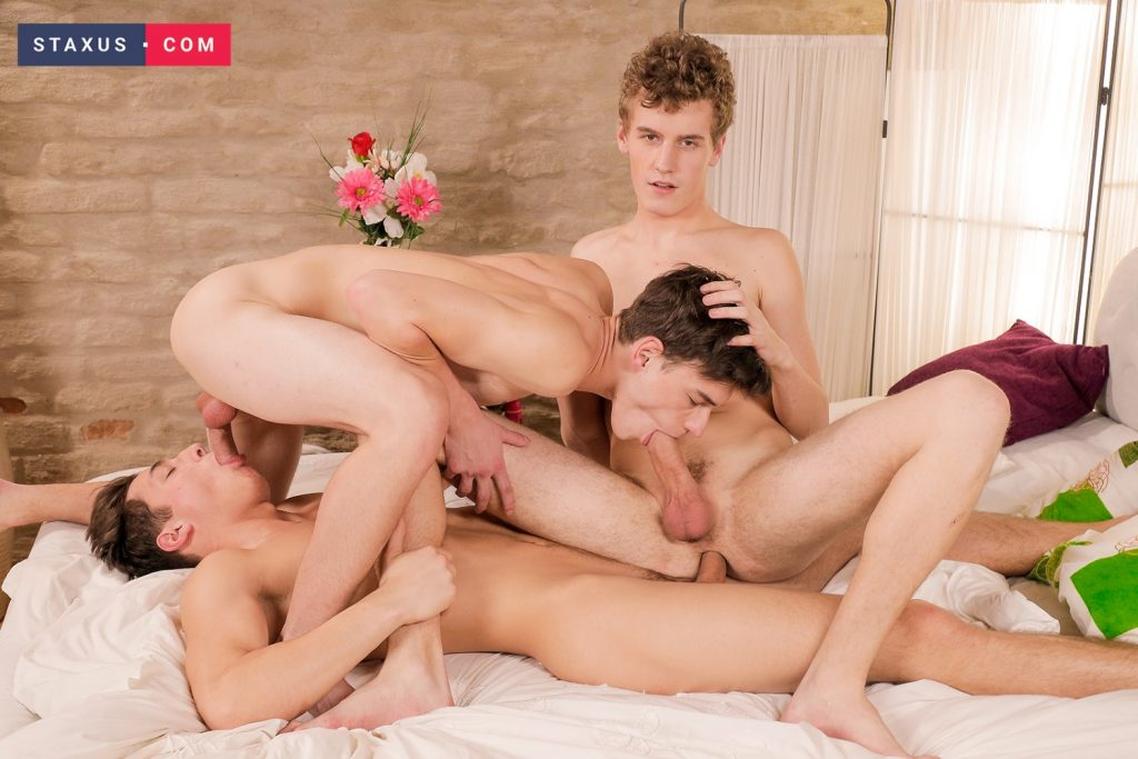 Young Uncut Cock Twinks Twink Threesome Nick Fox Johny Walsh Jake Williams Gay Boys Blowjob Big Dick Bareback Anal Sex  Staxus: DP Me! (Jake Williams, Johny Walsh, Nick Fox)